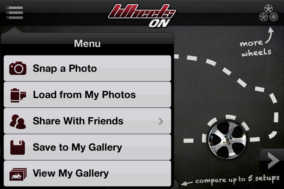 Alloy Wheels for my Car using mobile iOS or Android